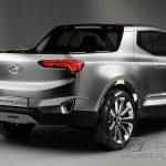 Hyundai Santa Cruze - вид сбоку.