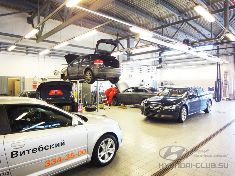 Ремонт автомобилей Audi в Санкт-Петербурге — Ауди Центр Витебский.