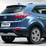 Hyundai Creta вид сзади справа.