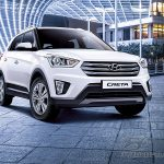 Hyundai Creta вид спереди справа.