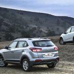 Hyundai Creta вид сзади слева.