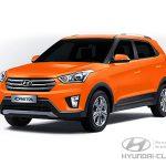 Цвет кузова Hyundai Creta оранжевый Sunset Orange (SN4)
