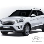 Цвет кузова Hyundai Creta серебристый Sleek Silver (RHM)