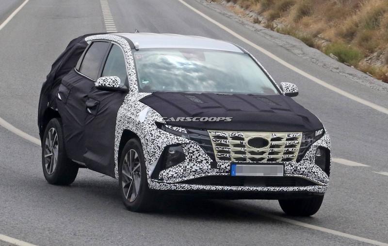 Шпионские фото нового Hyundai Tucson 2021