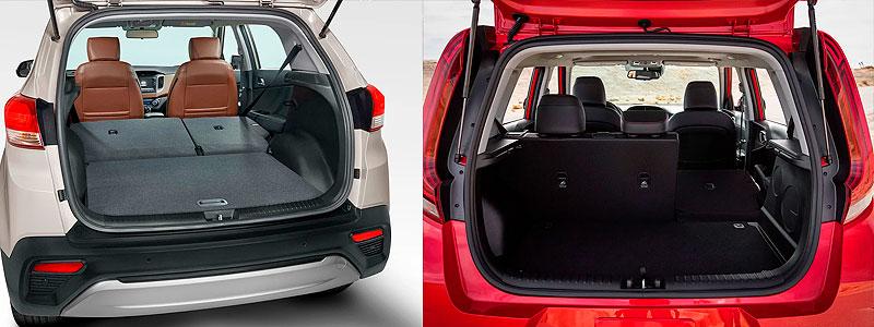 Hyundai Creta и Kia Soul: багажник.
