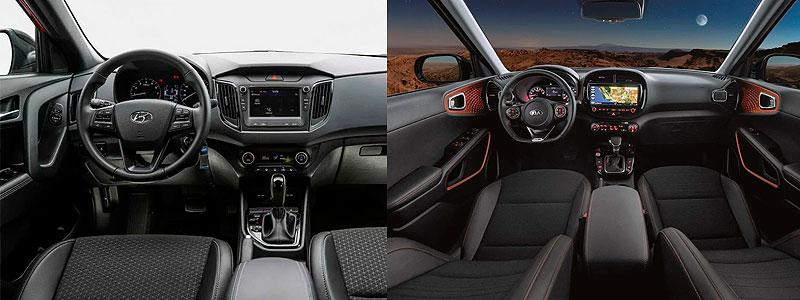 Hyundai Creta и Kia Soul: интерьер.