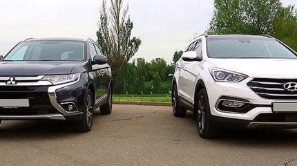Какой кроссовер лучше выбрать: Mitsubishi Outlander или Hyundai Santa Fe